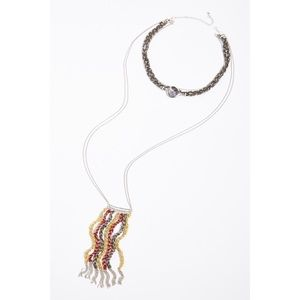 NEW Free People Kingdom Layered Necklace Multi